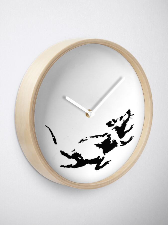 Alternate view of Banksy Rat Running in a Clock Clock