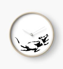Banksy Rat Running in a Clock Clock