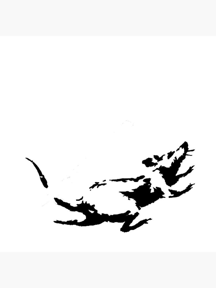 Banksy Rat Running in a Clock by ThatMerchStore