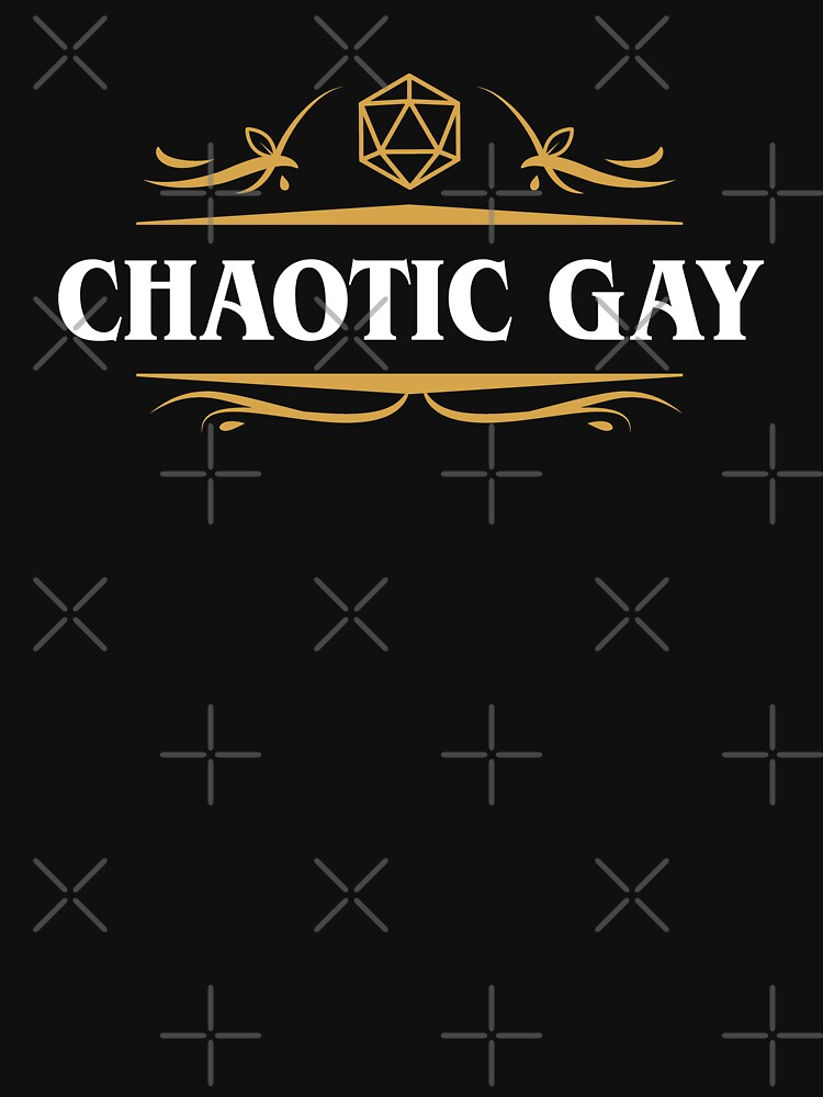 Chaotische Gay-Ausrichtung Tabletop RPG-Gaming von pixeptional
