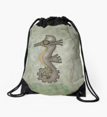 Sir Angustus Finn - Nautical Steampunk Seahorse Drawstring Bag