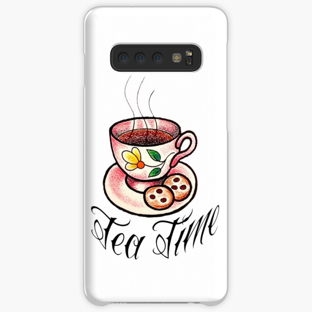 Tea Time Saucer and Cup Tattoo Design Case & Skin for Samsung Galaxy