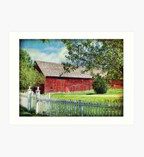 The Red Barn, King's Landing NB Art Print