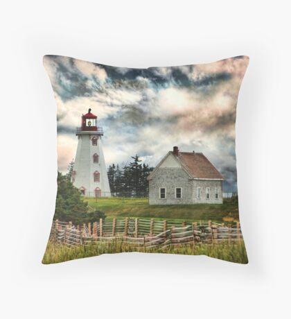 Panmure Island Lighthouse, PEI Throw Pillow