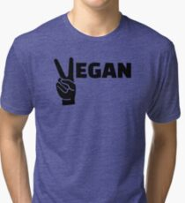 Vegan peace Tri-blend T-Shirt
