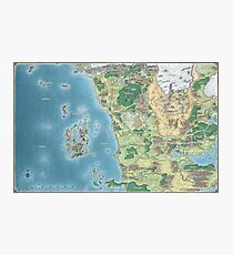 Map of Sword Coast Photographic Print