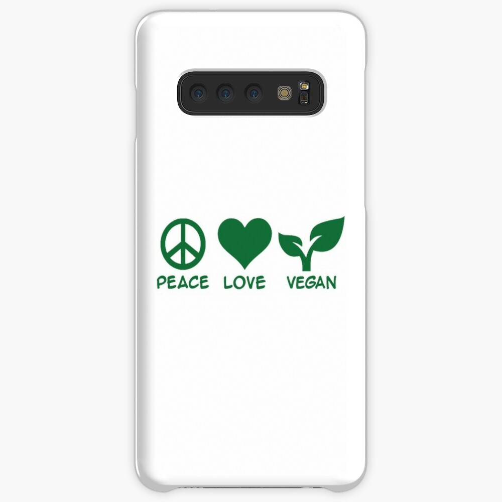 Peace love vegan Funda y vinilo para Samsung Galaxy