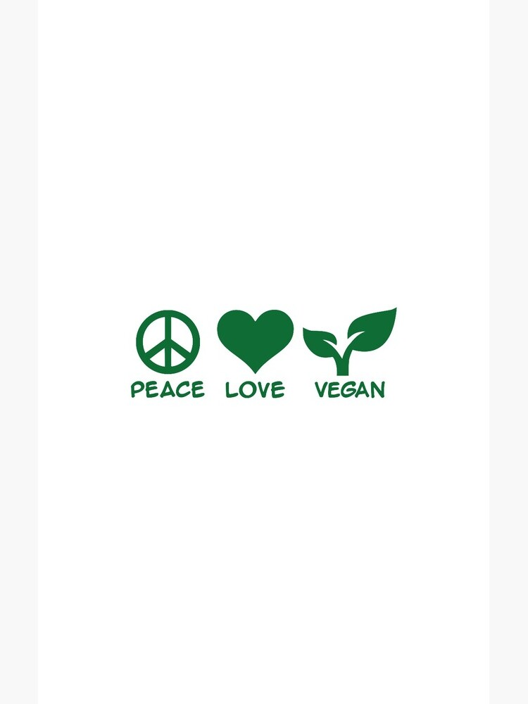 Peace love vegan de Designzz