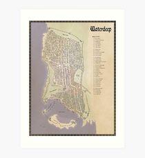 Map of Waterdeep Art Print