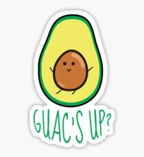 Funny Avocado Illustration Sticker