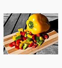 Colorful Peppers Photographic Print