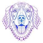 «Golden retriever Zentangle, ilustración de arte de línea» de RomanDigitalArt