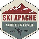 Ski Apache New Mexico Skiing 3 by MyHandmadeSigns