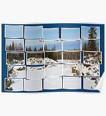 Winter Scene Divided Poster