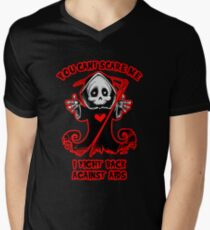 Halloween Support AIDS Awareness Design Men's V-Neck T-Shirt