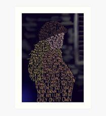 Lámina artística Les Miserables- Por mi cuenta