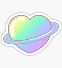Fairy Kei Pastel Rainbow Kawaii Heart Space Sticker Sticker