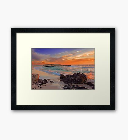 Trigg Beach At Sunset  Framed Print