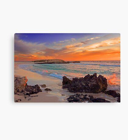 Trigg Beach At Sunset  Canvas Print