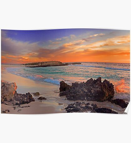 Trigg Beach At Sunset  Poster