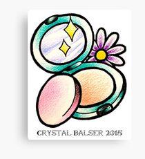 Make up compact powder traditional tattoo design Canvas Print