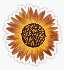 Du bist mein Sonnenschein Sonnenblume Zeichnung Sticker