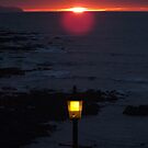 Lamplight Sea and Sunset by Yampimon