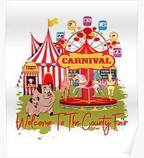 Willkommen in der Grafschaft Fair Carnival Poster