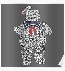 """The Stay Puft Marshmallow Man in """"Ghostbusters"""" the Movie Poster"""