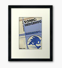 Megadrive - Sonic the Hedgehog Framed Print