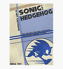 Megadrive - Sonic the Hedgehog Photographic Print