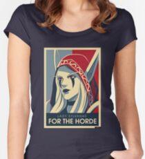 Sylvanas - Für die Horde Tailliertes Rundhals-Shirt