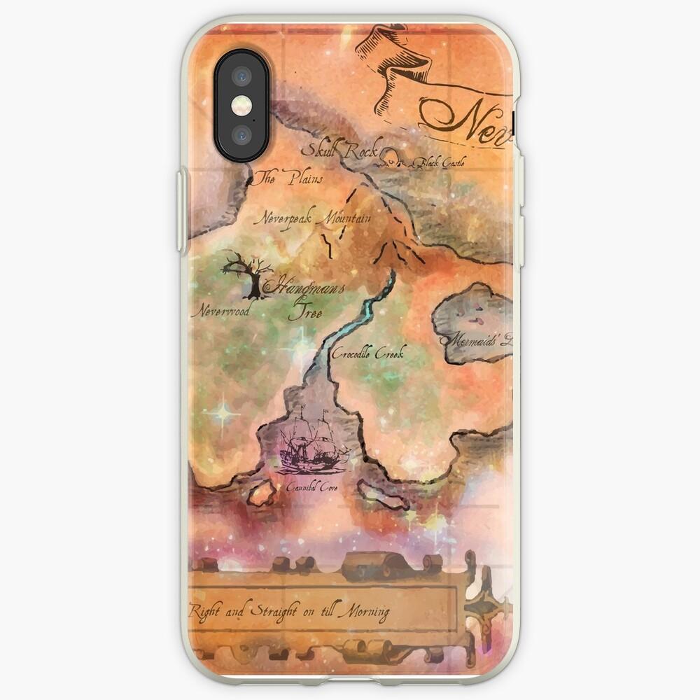 Neverland Karte iPhone-Hülle & Cover