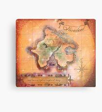 Neverland Karte Metallbild