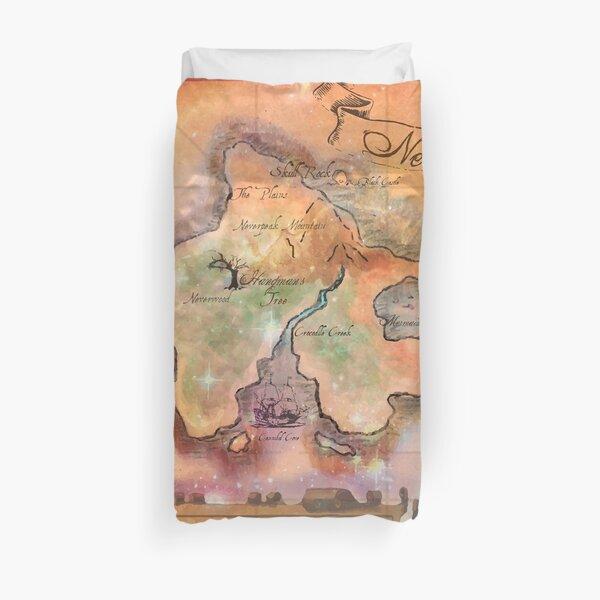 Neverland Map  Duvet Cover