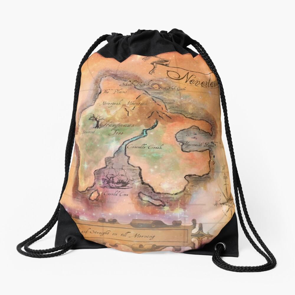 Neverland Karte Turnbeutel