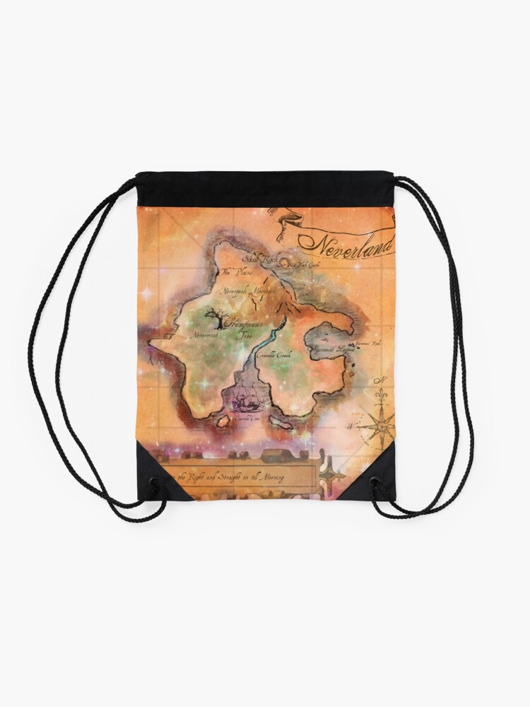 Alternative Ansicht von Neverland Karte Turnbeutel