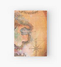 Neverland Map  Hardcover Journal