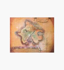 Neverland Map  Art Board