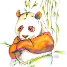 « Panda multicolor bambou » par PerenArt