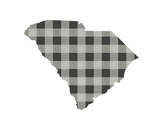 South Carolina Plaid in Gray by Maren Misner