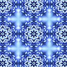 Abstrakte Kunst -  Fluid Art - blaues Muster von sibelscribble