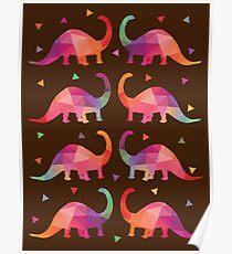 Geometric Dinosaurs Poster