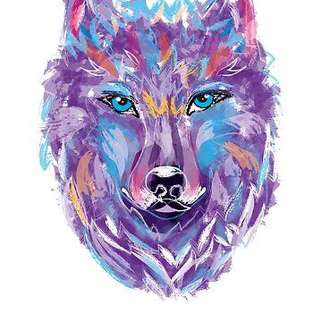 Wolf T-Shirt by amorhka