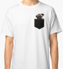 Pug Pocket Classic T-Shirt