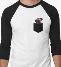Pug Pocket Men's Baseball ¾ T-Shirt