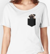 Pug Pocket Women's Relaxed Fit T-Shirt