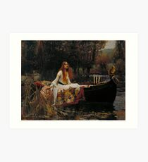 The Lady of Shalott (John W. Waterhouse) Art Print