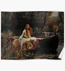 The Lady of Shalott (John W. Waterhouse) Poster