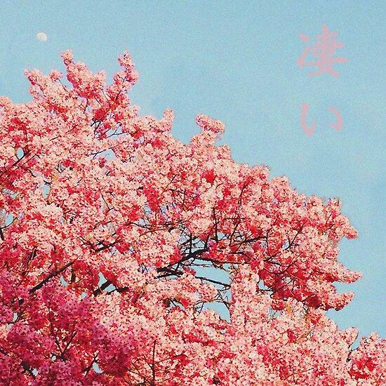 Schone Japanische Sakura Mit Einem Zuruckhaltenden Vaporwave